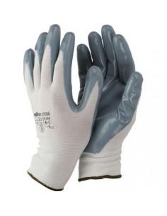 Guantes de nylon/nitrilo gris